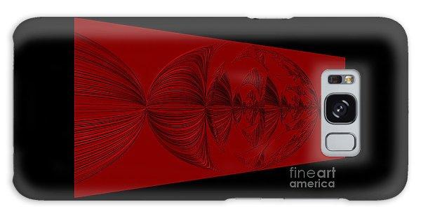 Red And Black Design Galaxy Case by Oksana Semenchenko