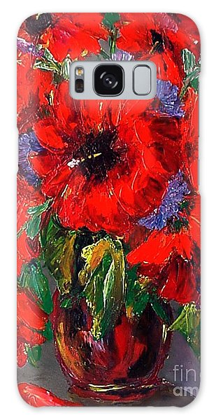 Red Floral Galaxy Case