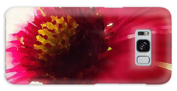 Red Flower Abstract Galaxy Case
