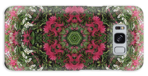 Red Flower Faces Kaleidoscope Galaxy Case