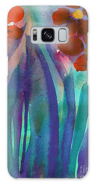 Red Flowers Galaxy Case