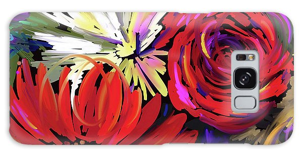 Red Flowers Galaxy Case by DC Langer