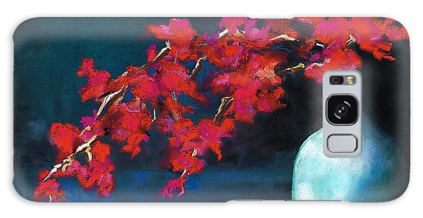 Red Flowers Galaxy Case by Frances Marino