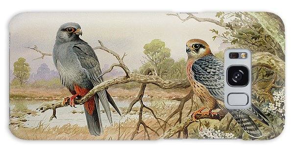 Red-footed Falcons Galaxy Case