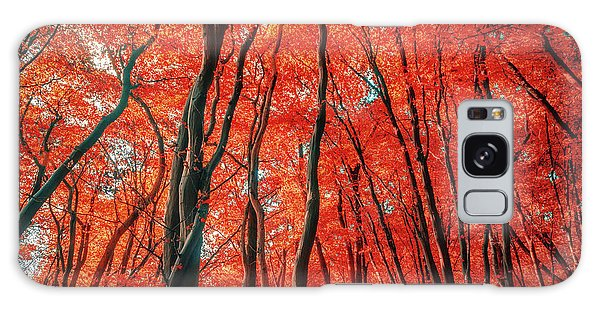 Red Forest Of Sunlight Galaxy Case