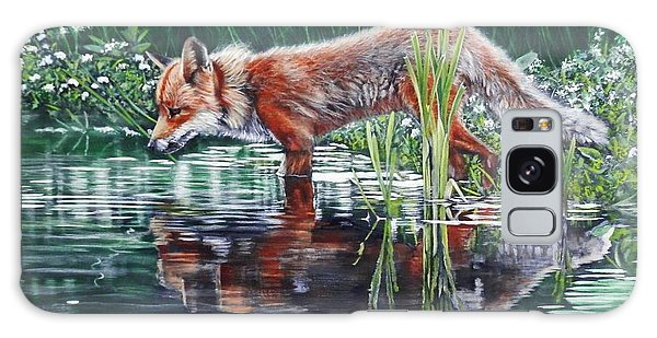 Red Fox Reflecting Galaxy Case