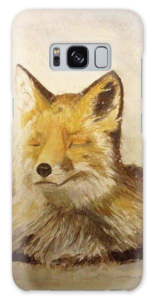 Red Fox Rest Galaxy Case