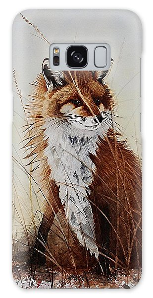 Red Fox Waiting On Breakfast Galaxy Case by Jimmy Smith