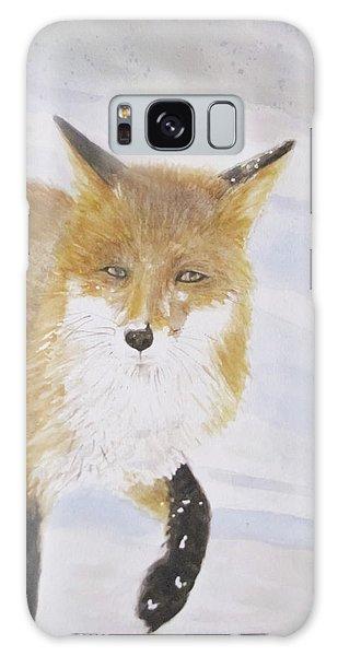 Red Fox Walk Galaxy Case