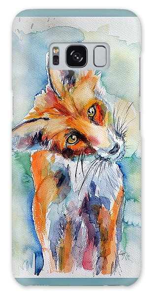 Red Fox Watching Galaxy Case