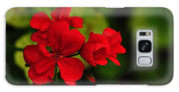 Red Geranium Galaxy Case