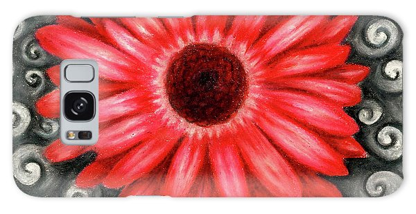 Red Gerbera Daisy Drawing Galaxy Case