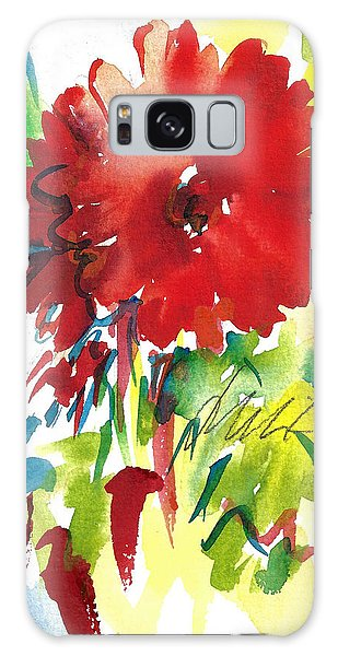 Gerberas Red, White, And Blue Galaxy Case