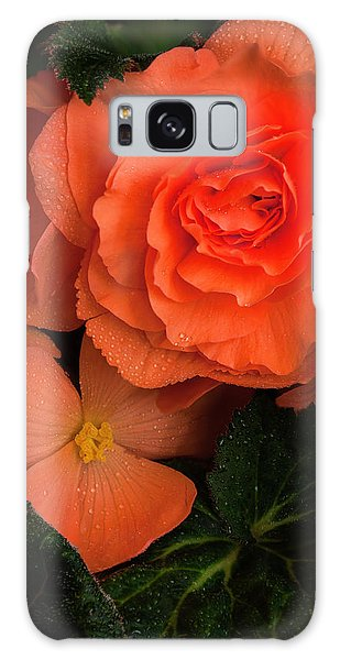 Red Giant Begonia Ruffle Form Galaxy Case