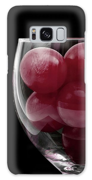 Red Grapes In Glass Galaxy Case