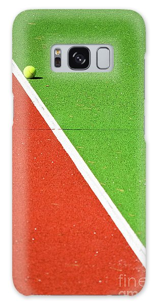 Red Green White Line And Tennis Ball Galaxy Case