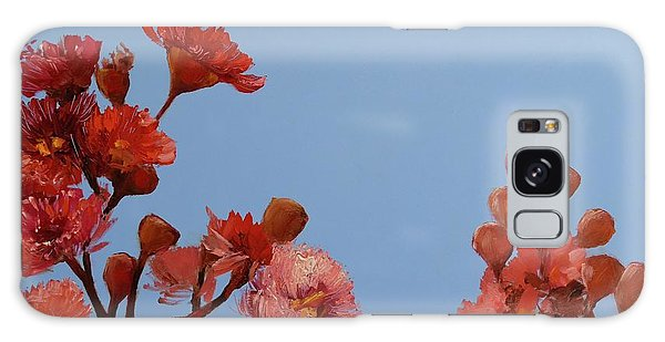 Red Gum Blossoms Australian Flowers Oil Painting Galaxy Case