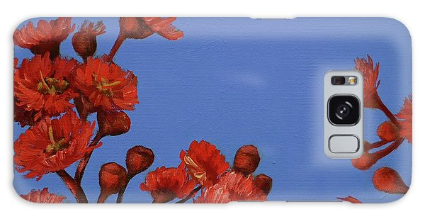 Red Gum Blossoms Galaxy Case