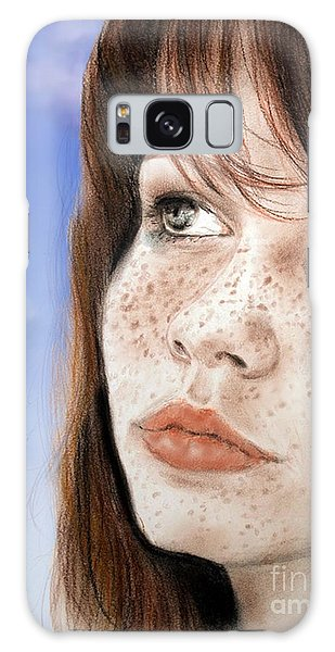 Red Hair And Freckled Beauty Version II Galaxy Case