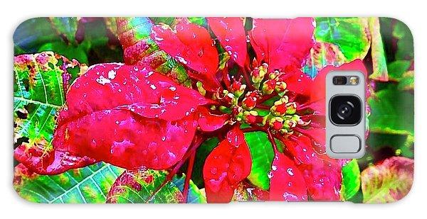 Red Hawaiian Poinsettia Galaxy Case