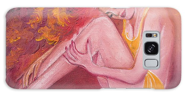 Red Head In Yellow Bathingsuit Galaxy Case by Sigrid Tune