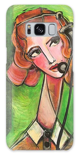 Galaxy Case featuring the painting Red Headed Operator by Laurie Maves ART