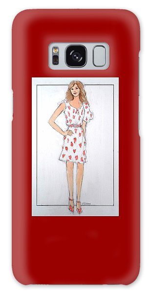 Red Heart Dress Galaxy Case