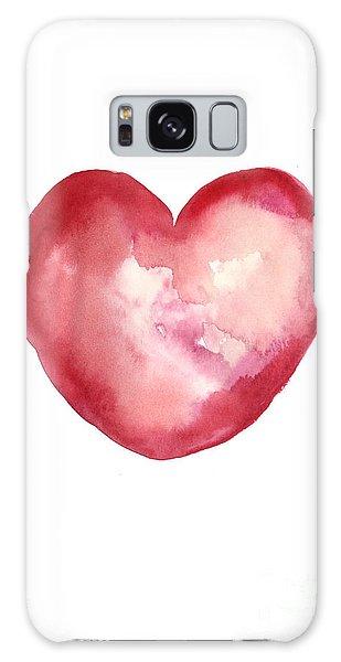Galaxy Case - Red Heart Valentine's Day Gift by Joanna Szmerdt