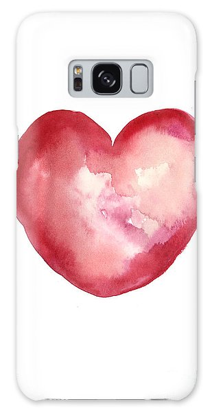 Watercolor Galaxy Case - Red Heart Valentine's Day Gift by Joanna Szmerdt