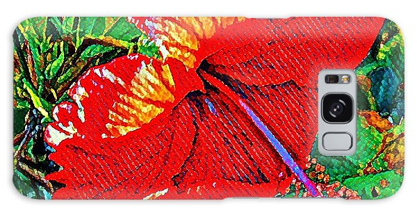 Red Hibiscus Aslant Galaxy Case