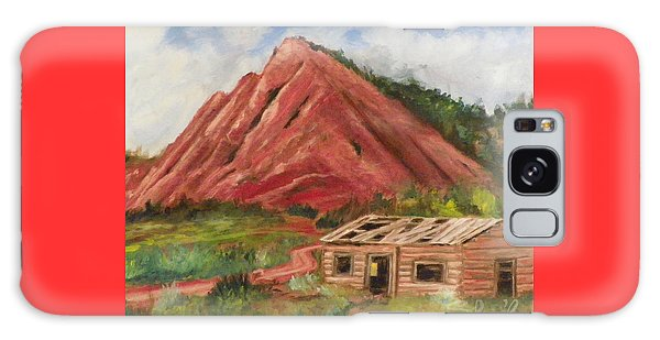 Red Hill And Cabin Galaxy Case by Sherril Porter