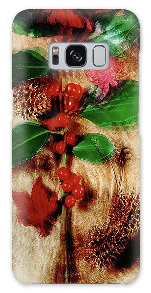 Red Holly Spinning Galaxy Case
