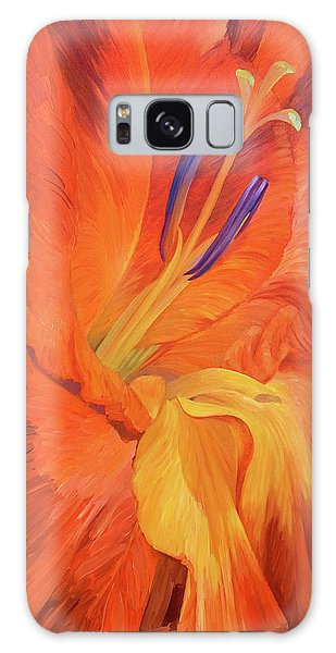 Red-hot Flower Galaxy Case