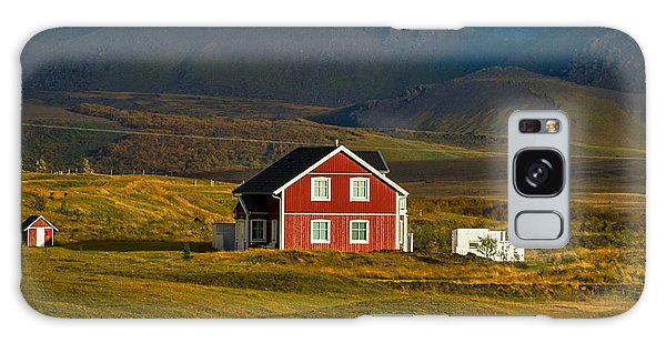 Red House And Horses - Iceland Galaxy Case