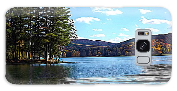Galaxy Case featuring the photograph Red House Lake Allegany State Park In Autumn Expressionistic Effect by Rose Santuci-Sofranko