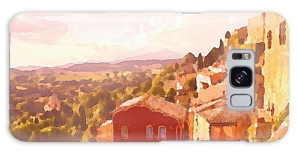 Galaxy Case featuring the digital art Red House On A Hill by Shelli Fitzpatrick