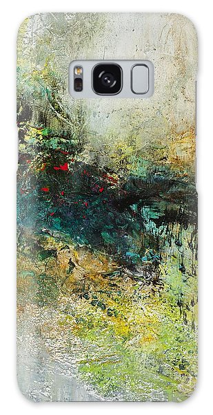 Red In The Landscape Galaxy Case by Frances Marino