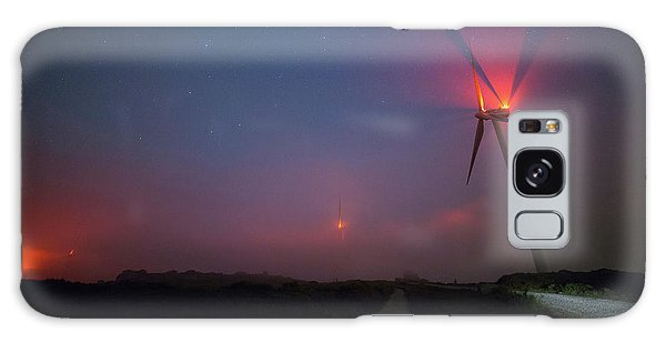 Galaxy Case featuring the photograph Red In The Night by Bruno Rosa