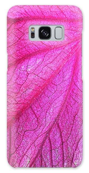 Red Leaf Arteries Galaxy Case