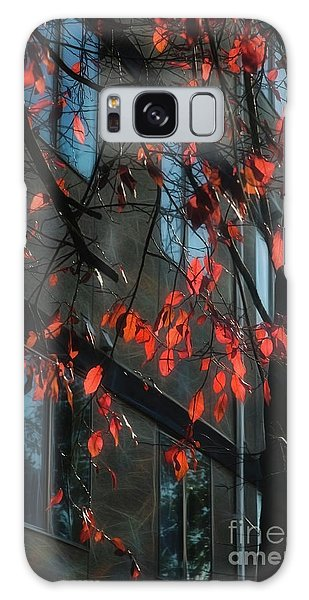 Galaxy Case featuring the photograph Red Leaves by Yulia Kazansky