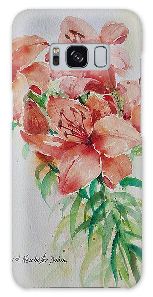 Red Lilies Galaxy Case
