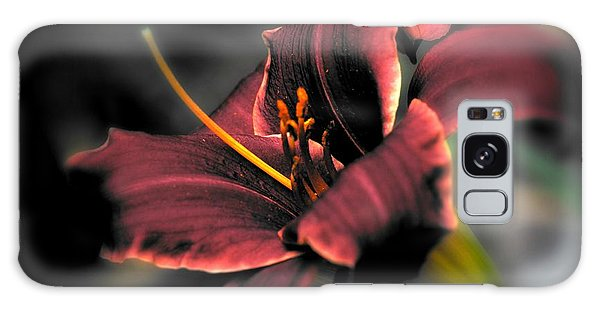 Galaxy Case featuring the photograph Red Lilly2 by Michaela Preston