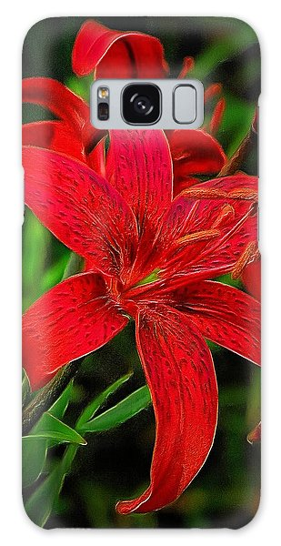 Red Lily Galaxy Case
