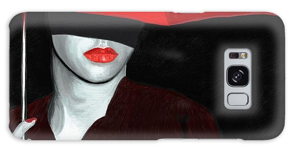 Red Lips And Umbrella Galaxy Case by James Shepherd