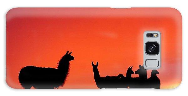 Red Llama Sunset 2 Galaxy Case