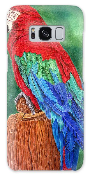 Red Macaw Galaxy Case by Dawnstarstudios