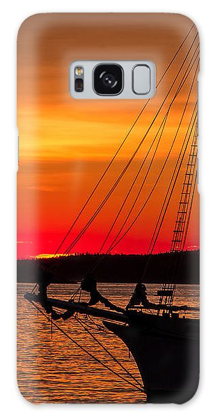 Red Maine Sunrise Galaxy Case
