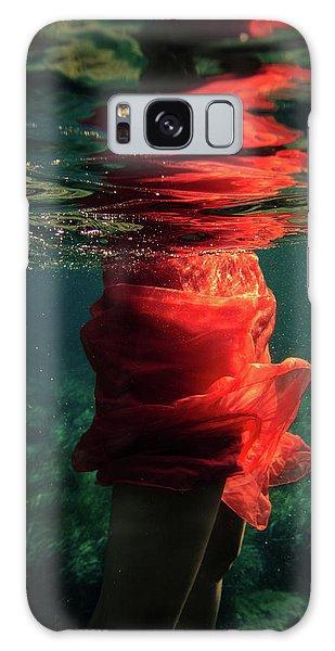 Red Mermaid Galaxy Case