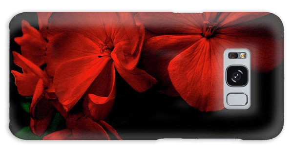 Red  Midnight Magic Flowers Galaxy Case
