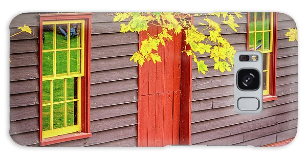Red Mill Door In Fall Galaxy Case
